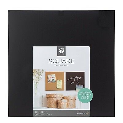 U Brands Square Frameless Magnetic Chalk Board 14 X 14 Inches Black