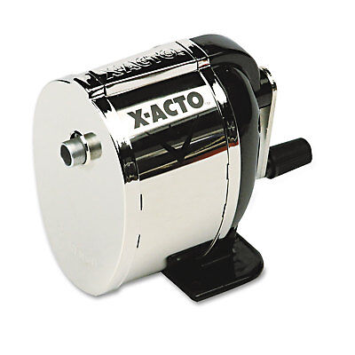 X-acto Model L Classroom Manual Pencil Sharpener Blackchrome 1041