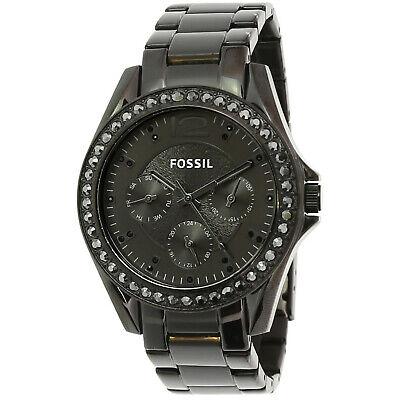 Fossil Women's Riley ES4519 Black Stainless-Steel Japanese Quartz Fashion Watch