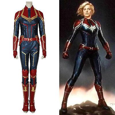 Captain Marvel Ms. Carol Danvers Cosplay Kostüm PU Leder Karneval / Halloween