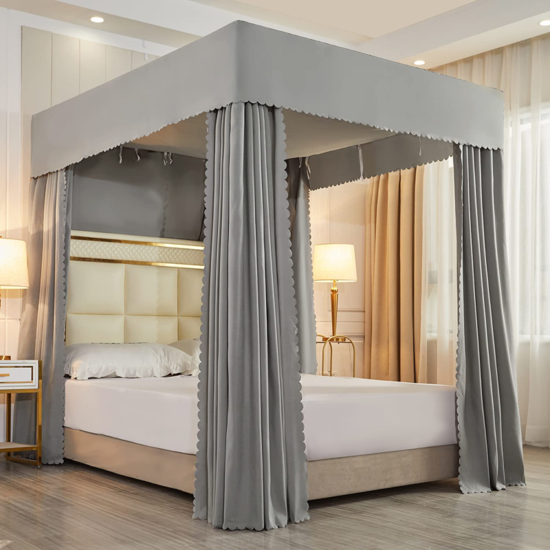 bed curtains mosquito net solid four corner