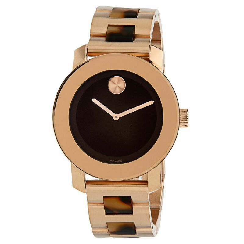 Movado 3600189 Women Bold Brown Quartz Watch