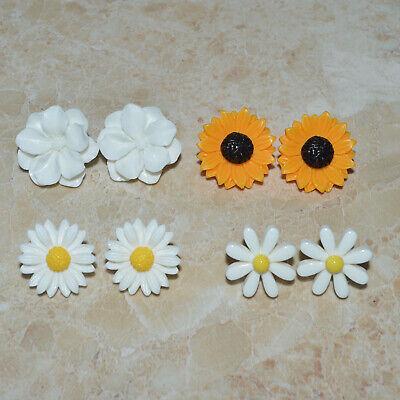 Sunflower Daisy Flower Earrings Vintage Style Floral Ear Stud Women Girl's Gift