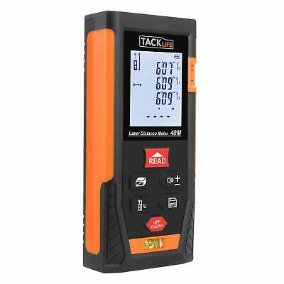 Tacklife Hd40 Classic Laser Measure 131ft Minft Mute Laser Distance Meter With