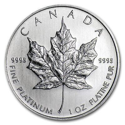 Canada 1 oz Platinum Maple Leaf BU (Random Year) - SKU #60