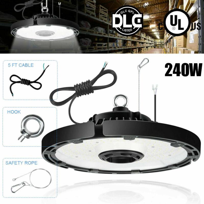 240W UFO High Bay LED Shop Light For Commercial Warehouse Garage Factory 5000K