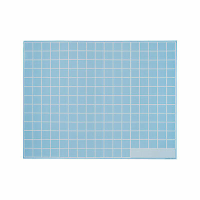Dry Erase Blue Grid Mats - Educational - 12 Pieces