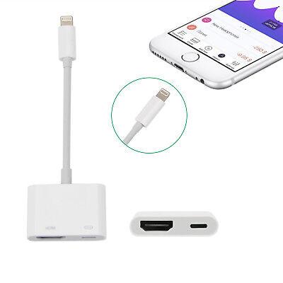 Lightning zu Digital AV TV HDMI Kable Adapter f. iPhone X 8 7 6S Plus iPad Pro