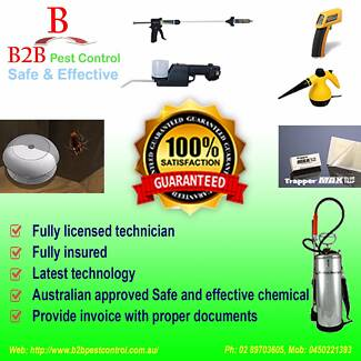 Guaranteed Bed bug control and Inspection service B2B Pest Contro