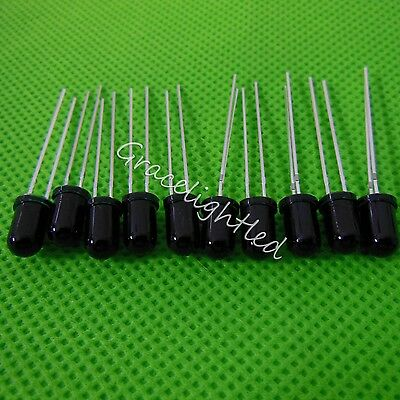 10pcs 5mm 940nm Ir Detector Sensor Infrared Phototransistor