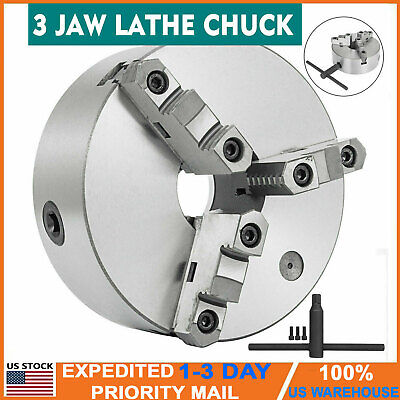 New 8 Inch 3 Jaw Steel Self-centering Lathe Chuck For Milling K11-200a Hardened