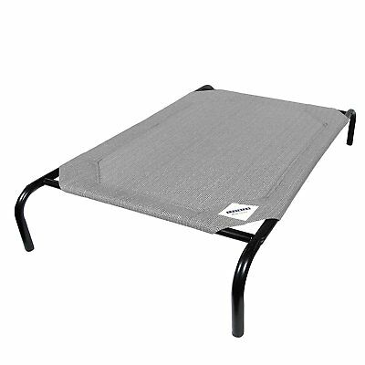 Elevated Pet Bed Knitted Fabric Dog Cat Large Gray Off Ground Cool Platform Easy