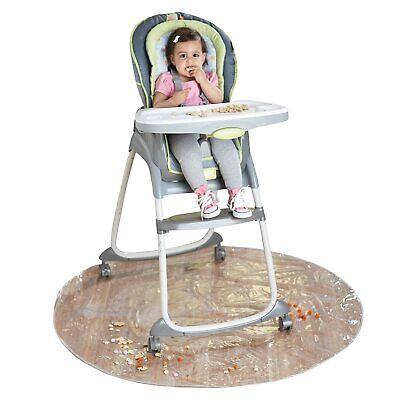 50 Inch Baby High Chair Infant Toddler Feeding Floor Protector Floor Mat Clear..