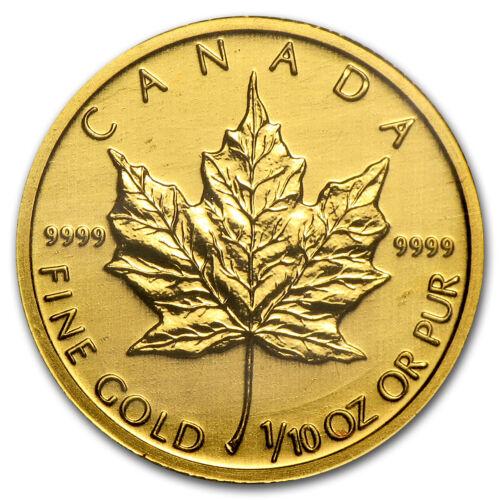 Canada 1/10 oz Gold Maple Leaf (Random Year) - SKU #12