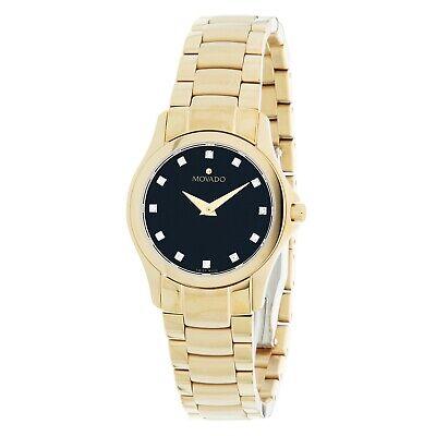 Movado 0607028 Women's Collection Black  Quartz Watch