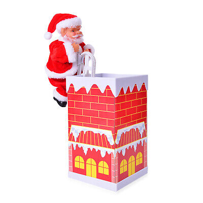 Home Décor Special Singing Electric Climbing Santa Chimney Toy 8.5x5