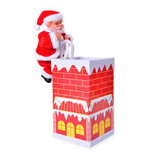 Home Decor Special Singing Electric Climbing Santa Chimney Toy