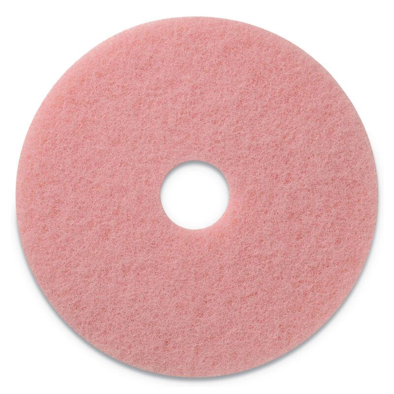 "Americo Remover Burnishing Pads, 20"" Diameter, Pink, 5/CT 403420"