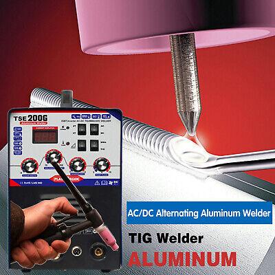 Tse200g Aluminum Welder Acdc Tigmma 3 In 1 Welding Machine 220v15 Us Stock