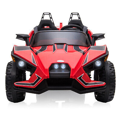 2 Seater Kids Ride On Car Truck 12V Kids Electric Car Motorized Vehicles Red