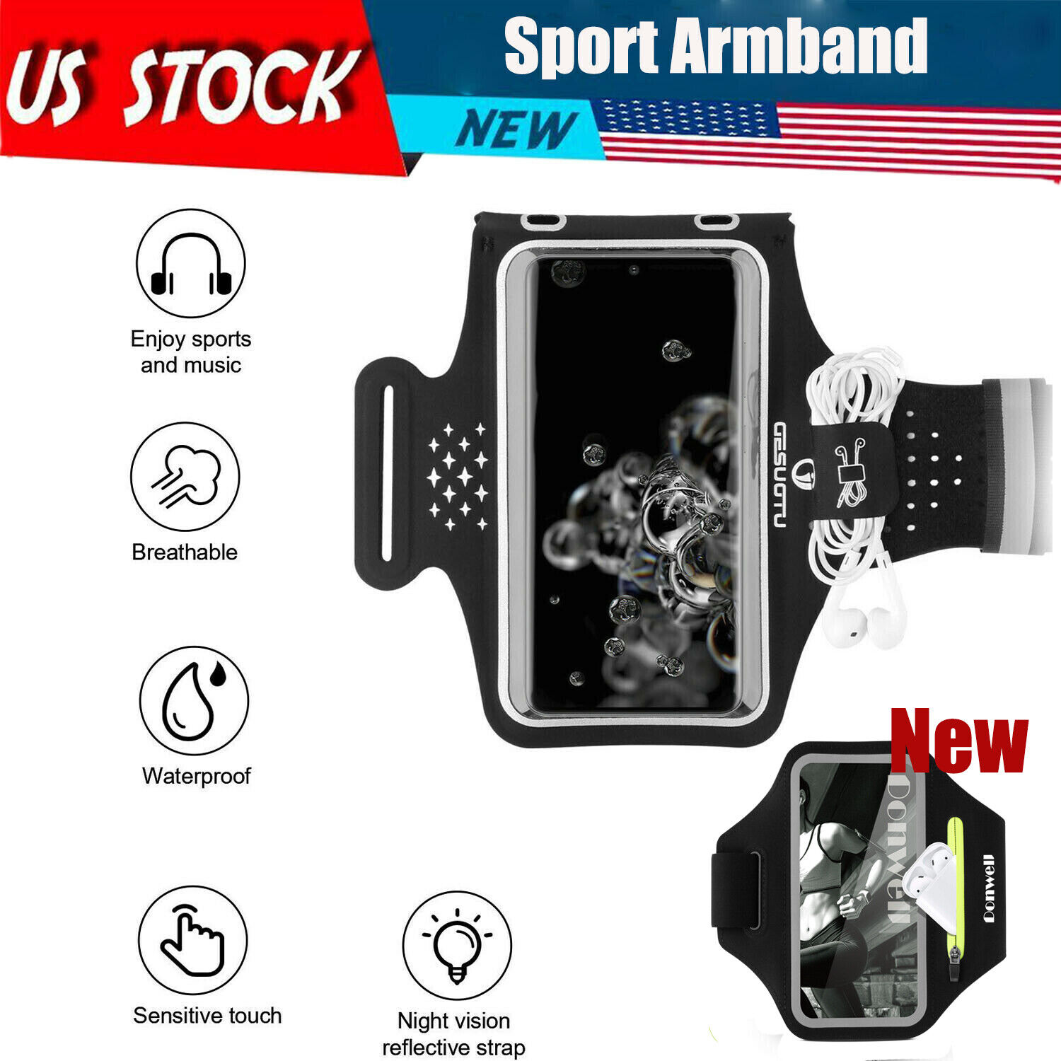 Sport Armband Running Jogging Gym Holder Arm Band Bag Case For Samsung Phone Armbands