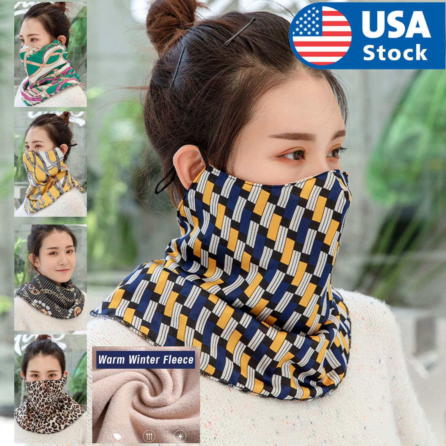 Multi-Purpose Bandana Tube Face Mask Neck Warmer Scarf Shield Snood US Clothing, Shoes & Accessories