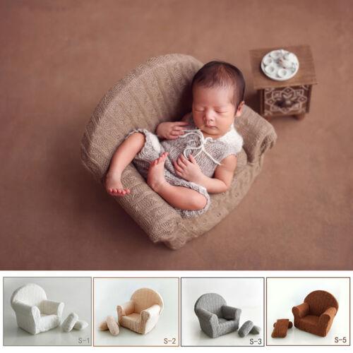 Newborn Photography Prop Baby Backdrop Kids Posing Mini Sofa Chair Studio Shoot