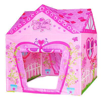 Flower Princess Castle Girls Pink Palace Play Tent Kids Pretend Garden Playhouse