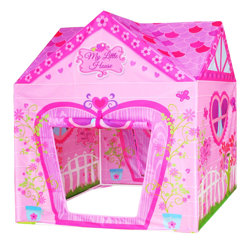 Flower Princess Castle Girls Pink Palace Play Tent Kids Pret