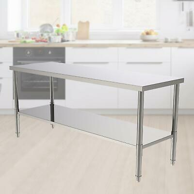 24x70x32 Stainless Steel Heavy Duty Food Prep Work Table Kitchen Restaurant