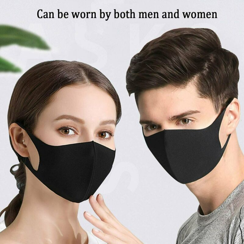 Face Mask Washable Reusable Breathable Thin mask Adult Soft Stretch Fabric