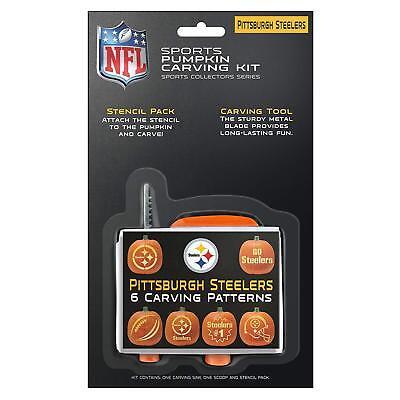 Pittsburgh Steelers Football NFL Halloween Pumpkin Carving Kit w/ 6 Stencils - Pittsburgh Steelers Halloween