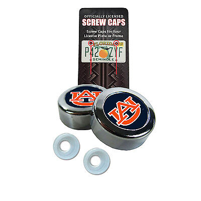 New NCAA Auburn Tigers Car Truck License Plate Frame Screw Caps Bolt Cover Auburn Tigers Cover