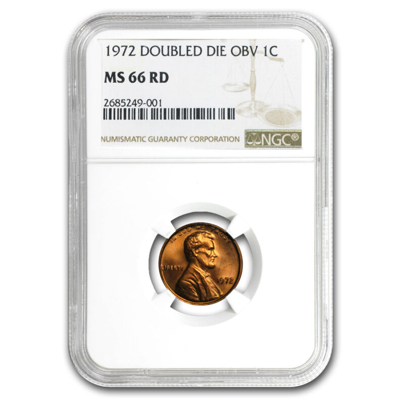 1972 Lincoln Cent Double Die Obverse MS-66 NGC (Red) - SKU#104908