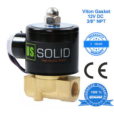 U.s. Solid 38 12v Dc Brass Electric Solenoid Valve Air Water Normally Closed