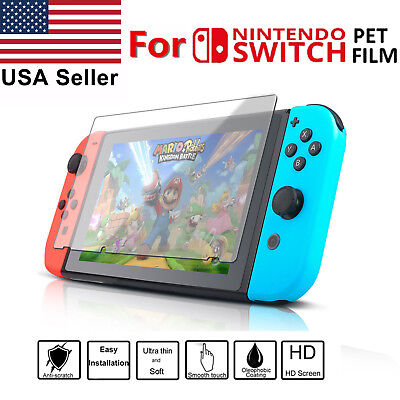 2 X Clear 9H Premium Tempered Glass Protective Screen Protector Nintendo Switch