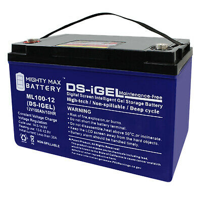 Mighty Max 12V 100AH GEL Battery Replaces Baja Boss Power Boat Trolling Motor