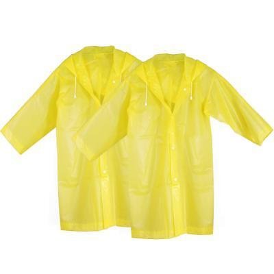 KEESIN Kids Rain Coat Waterproof Rain Poncho Outdoor Rainwear Jacket with Hood 2