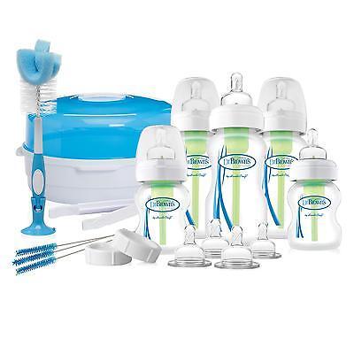 Dr Browns Options Baby Newborn Gift Set (Includes feeding bottles & Steriliser)