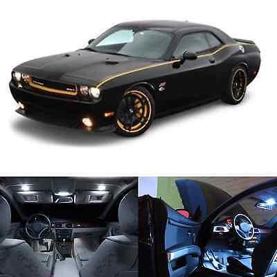 LED White Lights Interior Package Kit For Dodge Challenger 2008-2013 (10 pcs)