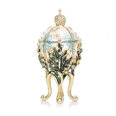 New Arrive Hand Painted Faberge Egg Style Decorative Jewelry Trinket Box for ...