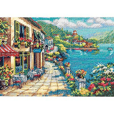 - Dimensions Needlecrafts Overlook Cafe Gold Petite Counted Cross Stitch Kit