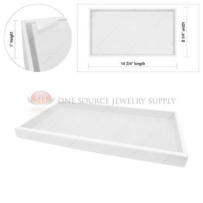 1 White Plastic Display Tray Jewelry Hobby Storage Stackable Travel Organizer