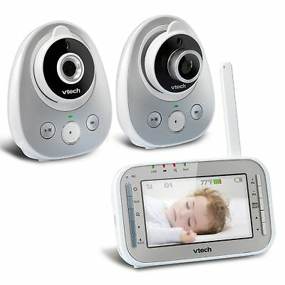 VTech Digital Video Baby Monitor wireless Wide-Angle Lens and 2 Cameras -VM342-2
