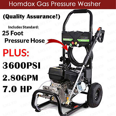 3600 PSI 2.8GPM Gas Pressure Washer Power Cold Water Cleaner 212CC 7HP (Best Gas Power Washer)