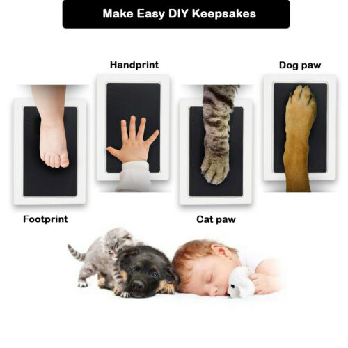 Clean Touch Animal Paw Baby Foot & Hand Print Large Ink Pad NO MESS 10 Colors
