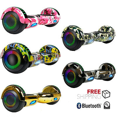 6.5 inch Chrome Rainbow Hoverboard Bluetooth Smart Self Balancing Electric Board