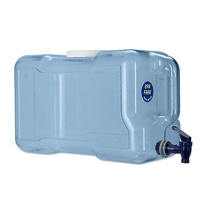 3 Gallon Refrigerator Dispenser Drinking Water Bottle w/ Spigot Faucet H2O Aqua