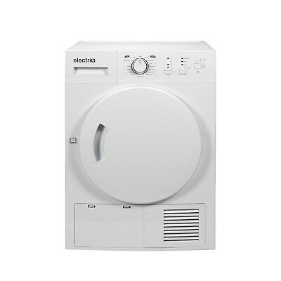 electriQ 8kg Freestanding Condenser Tumble Dryer - White