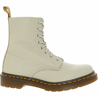 DR MARTENS Women's PASCAL Virginia Genuine Leather Boots, Ivory, UK 6 / EU 39